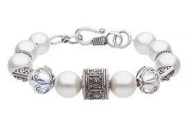 pearl bracelet in oriental design st b0094