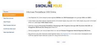 cara membuat sim online 2016 cara perpanjang sim online tanpa repot syarat langkah biaya
