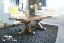 Trestle Coffee Table White Trestle Coffee Table Diy Projects