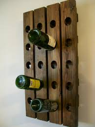 wall wine rack wood handmade rustic country riddling rack