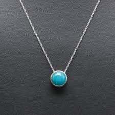 white gold turquoise necklace images 14k white gold turquoise necklace ebth 0&amp