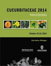 cucurbitaceae 2014 proceedings october 12 16 2014