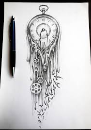broken clock tattoo flash photos pictures and sketches