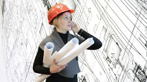 woman in working clothes of a miner talking on the phone in the