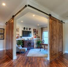 Double Barn Doors by Bringing Sliding Barn Doors Inside
