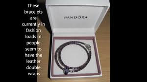 leather bracelet with silver charm images My new pandora purple leather double wrap sterling silver charm jpg