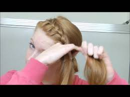 hair braid across back of head french braided headband into messy bun youtube