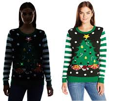christmas tree sweater with lights best 2016 ugly christmas sweater womens light up christmas tree