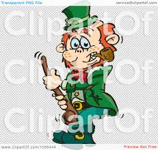 clipart st patricks day leprechaun holding a shalaylee walking