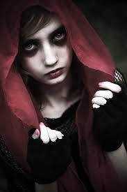 Little Red Riding Hood Makeup For Halloween by Dark Red Riding Hood By Valentinalaia On Deviantart