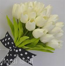 tulip bouquets white tulip artificial silk flower tulips posy wedding