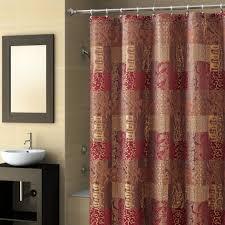 ashowercurtainfulfilledinburgundyandtancolorsjpg bath shower bathroom sand ivory fabric waterproof shower curtain liner burgundy and gold