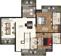 the golf address floor plan 3 4 bhk apartments duplex