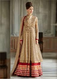 anarkali wedding dress beige bridal anarkali suit