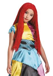 nightmare before christmas halloween costumes adults sally child wig from nightmare before christmas