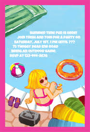 fun pool party free printable summer party invitation template