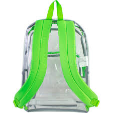 eastsport clear backpack with front pocket and adjustable padded
