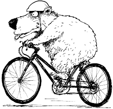 bear on bike coloring page coloring pages to print color