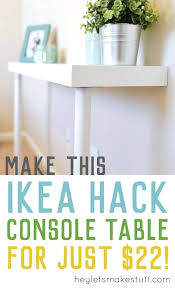 Narrow Console Table Ikea Tall Narrow Console Table Ikea Hack Budget Storage Small