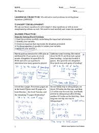 100 2 step equation problems mrs warren math on team vista