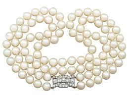 pearl necklace clasps images Pearl necklace with diamond clasp pearl jewellery ac silver jpg