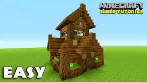 Build A Small House by Minecraft How To Build A Small Survival House Tutorial Easy