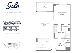 the gale lines 9 10 floor plan 1 bed 1bath price u0026 info