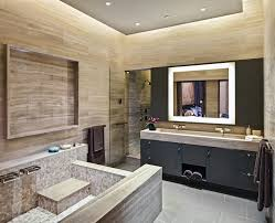 Art Deco Bathroom by Art Deco Bathroom Cabinets With Contemporary Marble Tub Surround