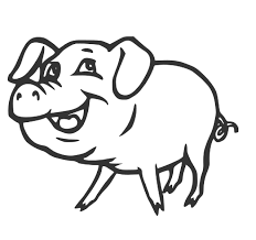 free printable pig coloring pages for kids animal place