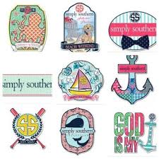 preppy decals new simply southern tees t shirt co ss preppy decals stickers