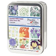 flowers edible gift seed tin garnish with style edible flowers collection