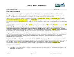 apartment needs capital needs assessment exle