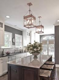 Lighting For Kitchen by Stylish Clear Glass Pendant Lights For Kitchen Over Clear Glass