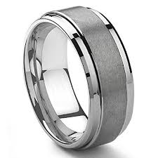 men s wedding bands 9mm tungsten metal men s wedding band ring in comfort fit and
