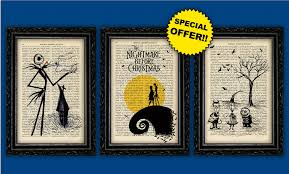 skellington prints tim burton book print pack