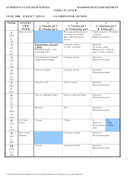 term planner template high school planner atherton state high school term planner year week subject