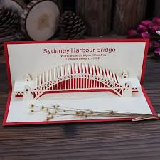 3d three dimensional greeting cards sydney harbour bridge and