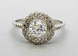 vintage era inspired engagement ring designs for fiancée