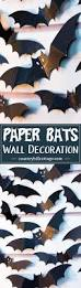 swarm of paper bats wall decoration country hill cottage