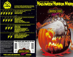 vip halloween horror nights park memorabilia 1992 halloween horror nights hollywood 1997