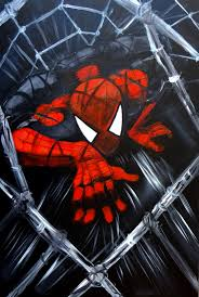 weekly painting week 35 extreme foreshortening spiderman hawk art