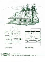 modern log home floor plans
