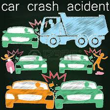 icon for car crash accident on side collision paint by chalk