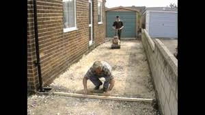 How To Lay A Paver How To Lay A Block Paving Driveway Youtube