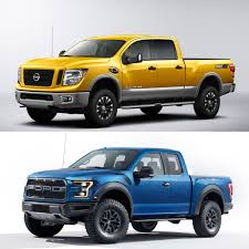 nissan titan turbo kit detroit duel 2016 nissan titan xd vs 2017 ford f 150 raptor
