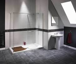 nice see through walk in shower ideas for elegant attic bathroom