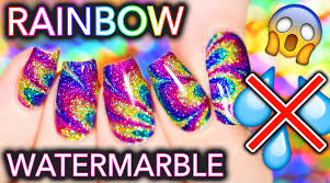 sparkly rainbow no water watermarble hack you must know youtube