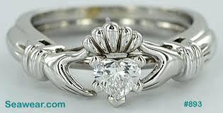 claddagh wedding ring set diamond claddagh rings b diamond claddagh wedding ring sets placee