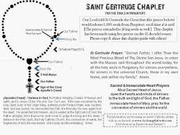 chaplet of the holy intercession for souls gertrude s prayers for the holy