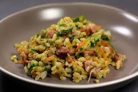 cuisiner du mais poêlée de blé aux légumes riz légumes et envie